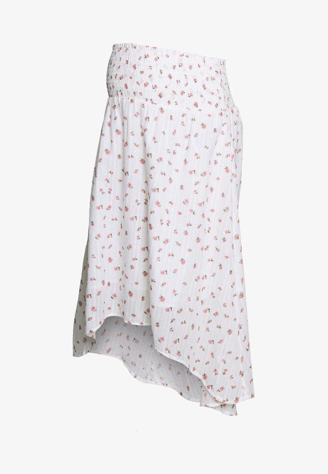 MLDITSY HIGH LOW  SKIRT - A-line skirt - snow white/georgia peach