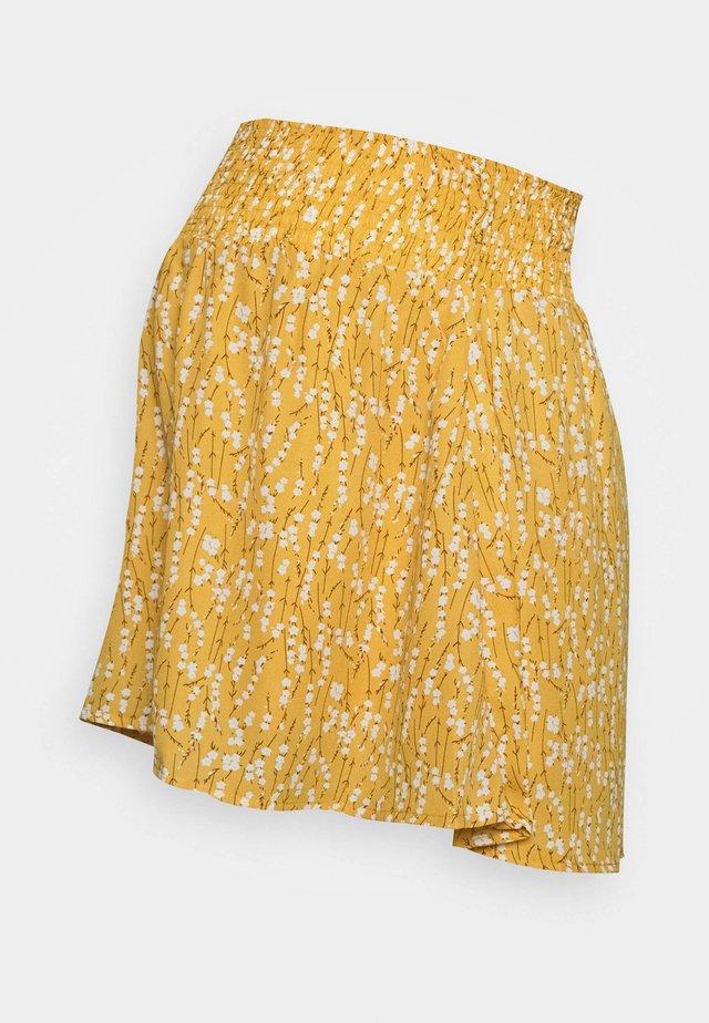 MLCARLIN SKIRT - Mini skirt - chinese yellow/fragant lilac