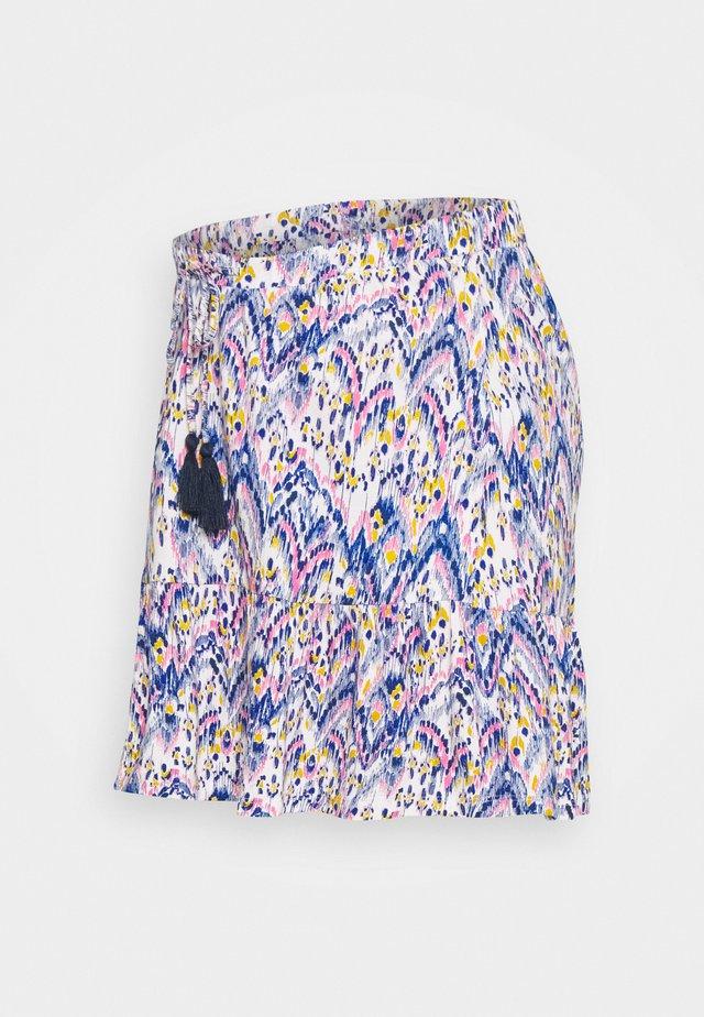 MLAGNES SHORT SKIRT - Mini skirt - snow white/fragant lilac