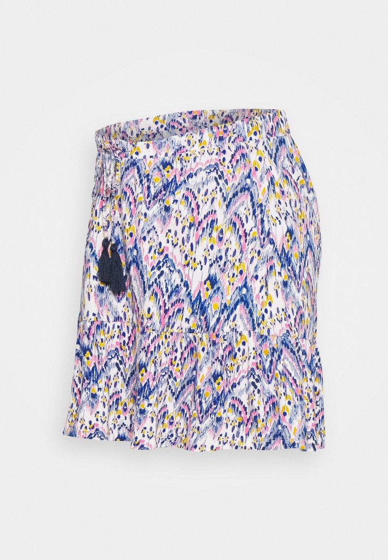 MAMALICIOUS - MLAGNES SHORT SKIRT - Minifalda - snow white/fragant lilac