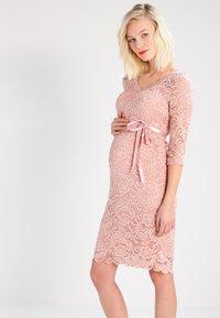 MAMALICIOUS - MLMIVANA DRESS - Juhlamekko - misty rose - 0