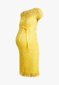MAMALICIOUS - MLMIVANA BOATNECK DRESS - Vestido de cóctel - super lemon - 5