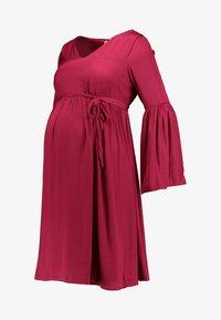 MAMALICIOUS - MLROSALIE LIA DRESS - Denní šaty - red plum - 3