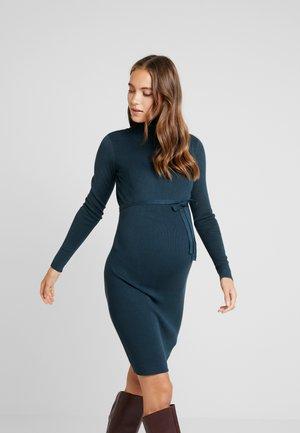 MLJACINA DRESS - Stickad klänning - midnight navy