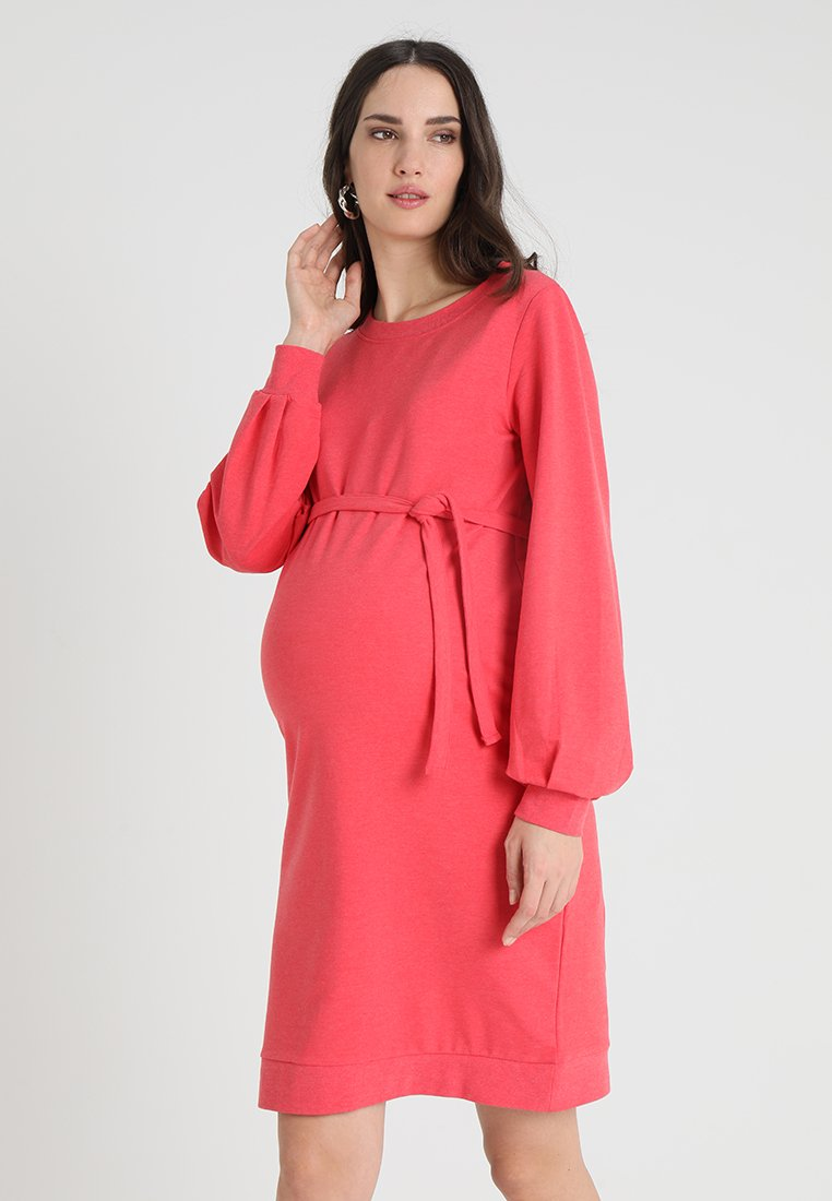 MAMALICIOUS - MLKAYA DRESS - Denní šaty - red