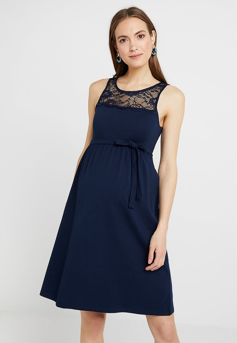 MAMALICIOUS - MLLAILA DRESS - Jersey dress - navy blazer