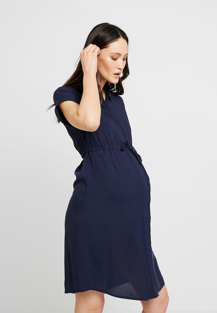 MAMALICIOUS - MLLAGOON LIA CAP DRESS - Robe chemise - navy blazer