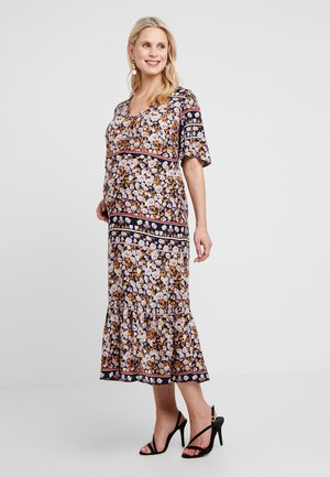 MLLUISA LIA DRESS - Maxi-jurk - peacoat/lavender/grey/desert