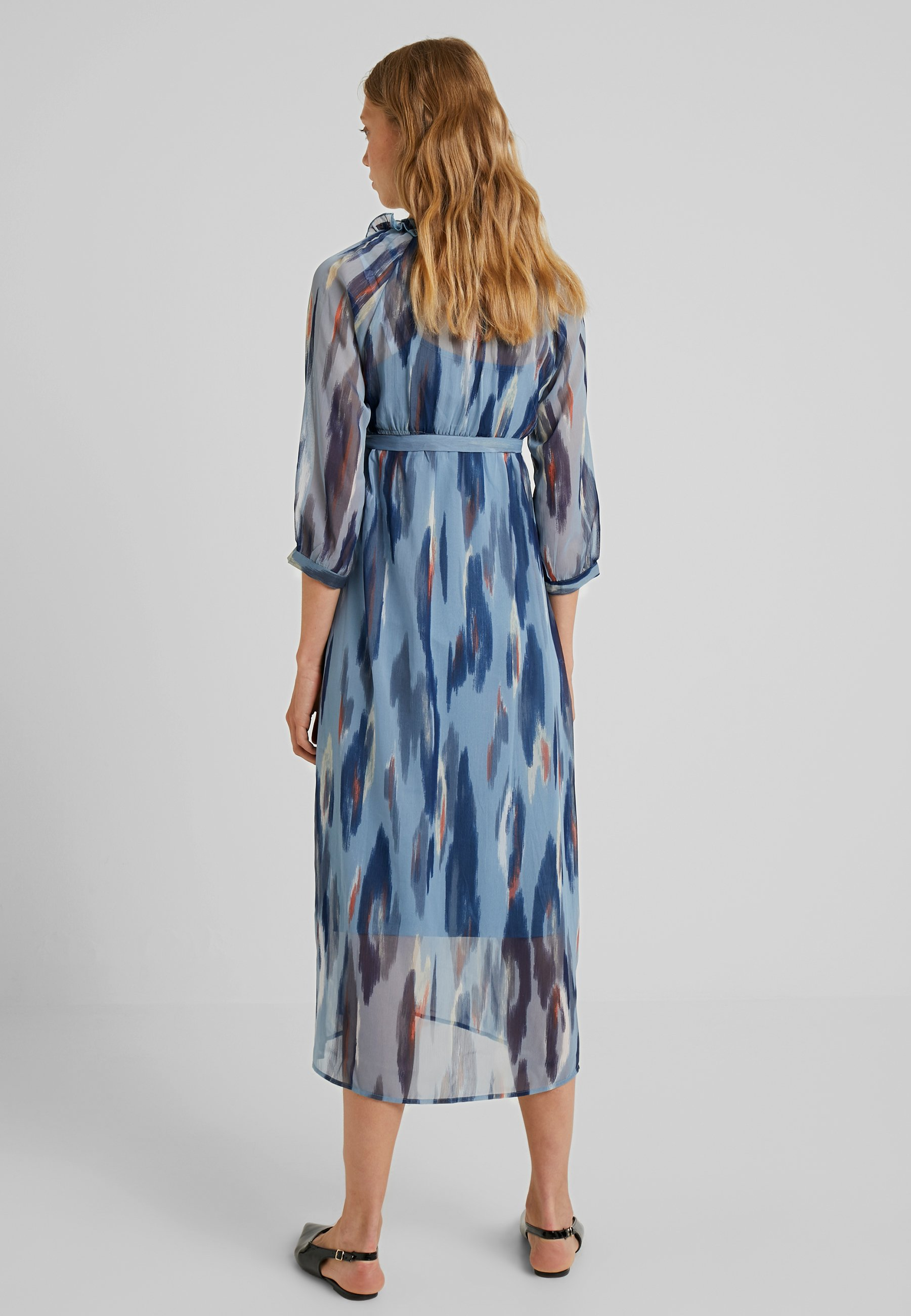 Carola Blue 4 Longue Aegean DressRobe Mamalicious 3 DEHI29