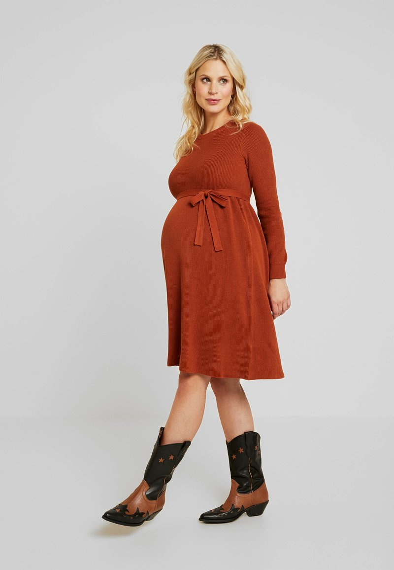 MAMALICIOUS - MLNEWZOE DRESS - Jumper dress - ginger bread