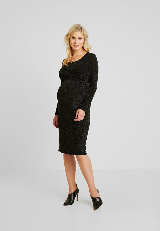 Jersey dress - black/silver