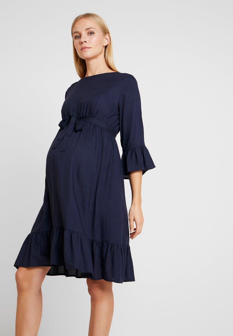 MAMALICIOUS - MLCAM 3/4 DRESS - Denní šaty - navy blazer