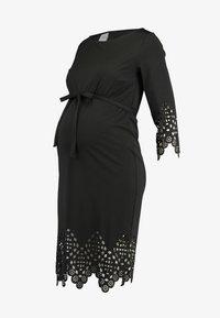 MAMALICIOUS - MLALAIA 3/4 DRESS - Žerzejové šaty - black - 4