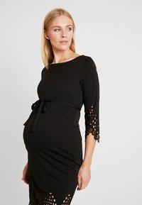 MAMALICIOUS - MLALAIA 3/4 DRESS - Žerzejové šaty - black - 3