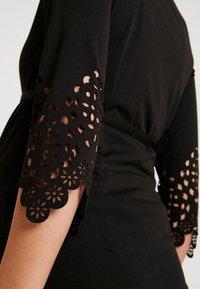 MAMALICIOUS - MLALAIA 3/4 DRESS - Žerzejové šaty - black - 5