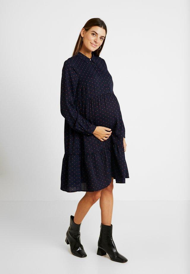MLXINIA WOVEN SHIRT DRESS - Shirt dress - navy