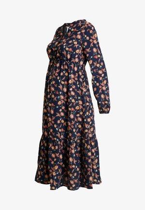MLXENI WOVEN MIDI DRESS - Košilové šaty - navy blazer