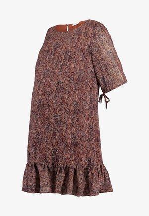 MLNELL WOVEN SHORT DRESS - Denní šaty - navy blazer/small dixie