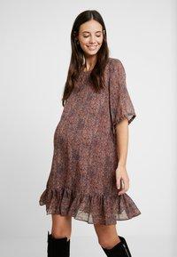 MAMALICIOUS - MLNELL WOVEN SHORT DRESS - Denní šaty - navy blazer/small dixie - 0