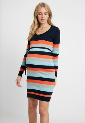 MLKENNA NELL MULTI  DRESS - Vestido de tubo - navy blazer/tiger/ultra