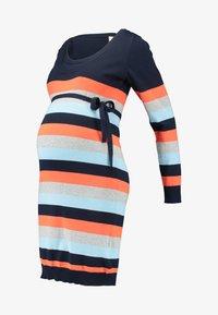 MAMALICIOUS - MLKENNA NELL MULTI  DRESS - Robe fourreau - navy blazer/tiger/ultra - 4