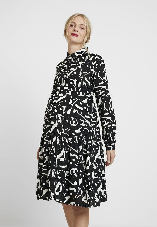 MLSERENA DRESS - Shirt dress - black/white