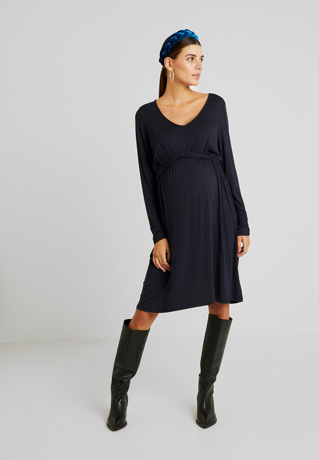 MLADELIA DRESS - Jerseyklänning - navy