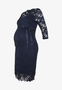 MAMALICIOUS - MLMIVANA DRESS - Vestido de cóctel - navy blazer - 4