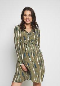 MAMALICIOUS - MLDANA WOVEN DRESS - Sukienka koszulowa - dusty olive - 0