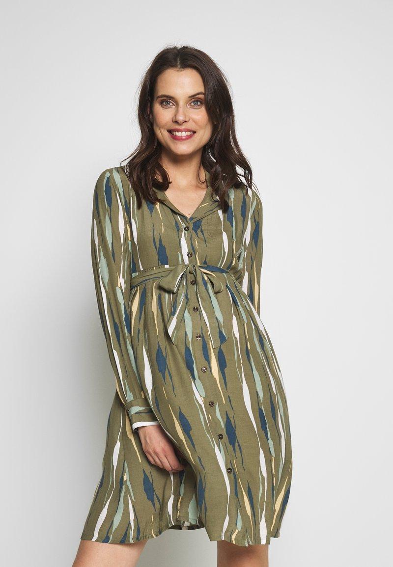 MAMALICIOUS - MLDANA WOVEN DRESS - Sukienka koszulowa - dusty olive