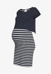MAMALICIOUS - MLLEA JUNE DRESS - Sukienka z dżerseju - navy blazer/snow white - 4