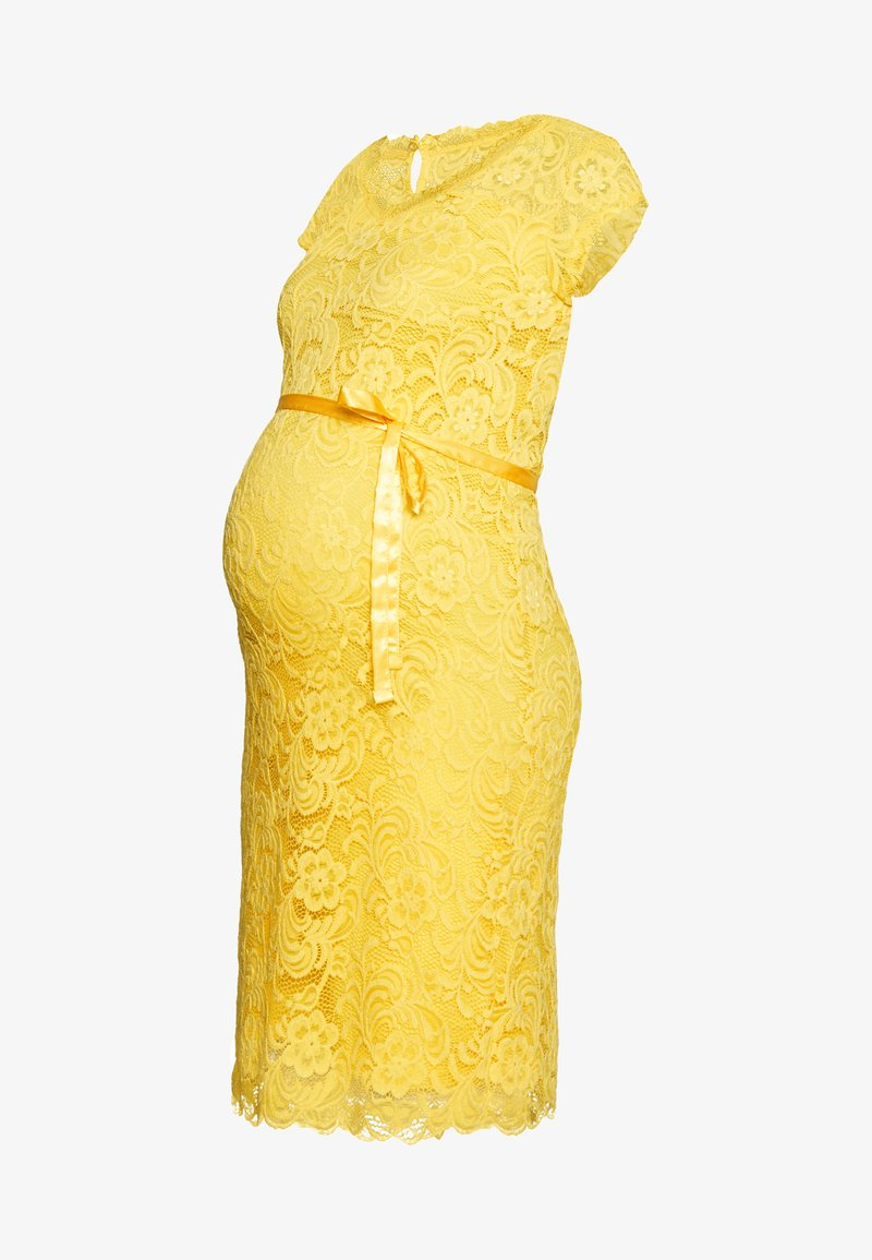 MAMALICIOUS - MLNEWMIVANA CAP DRESS - Juhlamekko - primrose yellow
