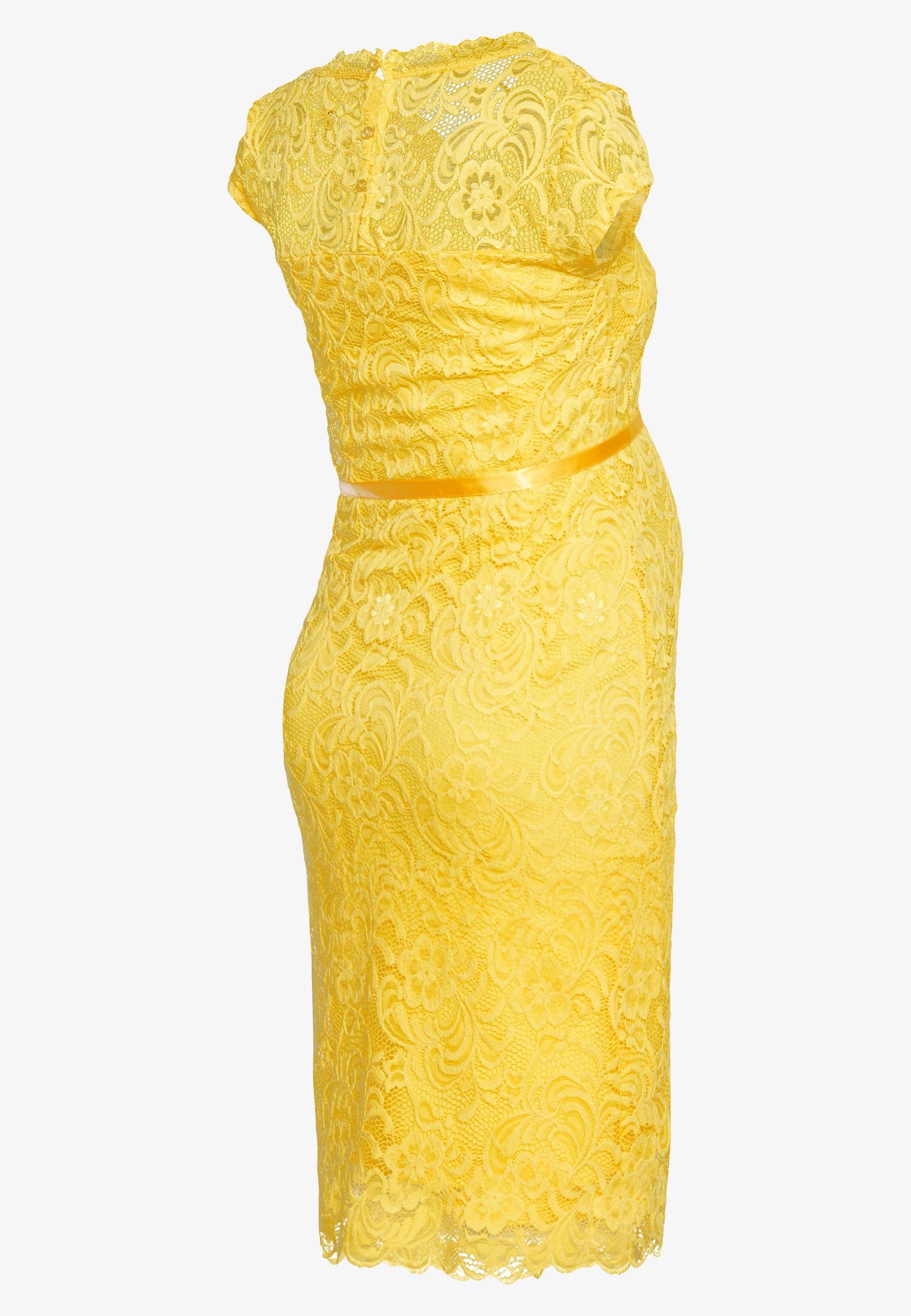 MAMALICIOUS MLNEWMIVANA CAP DRESS - Sukienka koktajlowa - primrose yellow