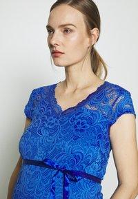 MAMALICIOUS - MLNEWMIVANA CAP DRESS - Vestido de cóctel - dazzling blue - 3