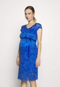 MAMALICIOUS - MLNEWMIVANA CAP DRESS - Vestido de cóctel - dazzling blue - 0
