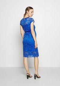 MAMALICIOUS - MLNEWMIVANA CAP DRESS - Vestido de cóctel - dazzling blue - 2