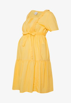 MLSOLANGE WOVEN SHORT DRESS - Jerseykjole - cream gold
