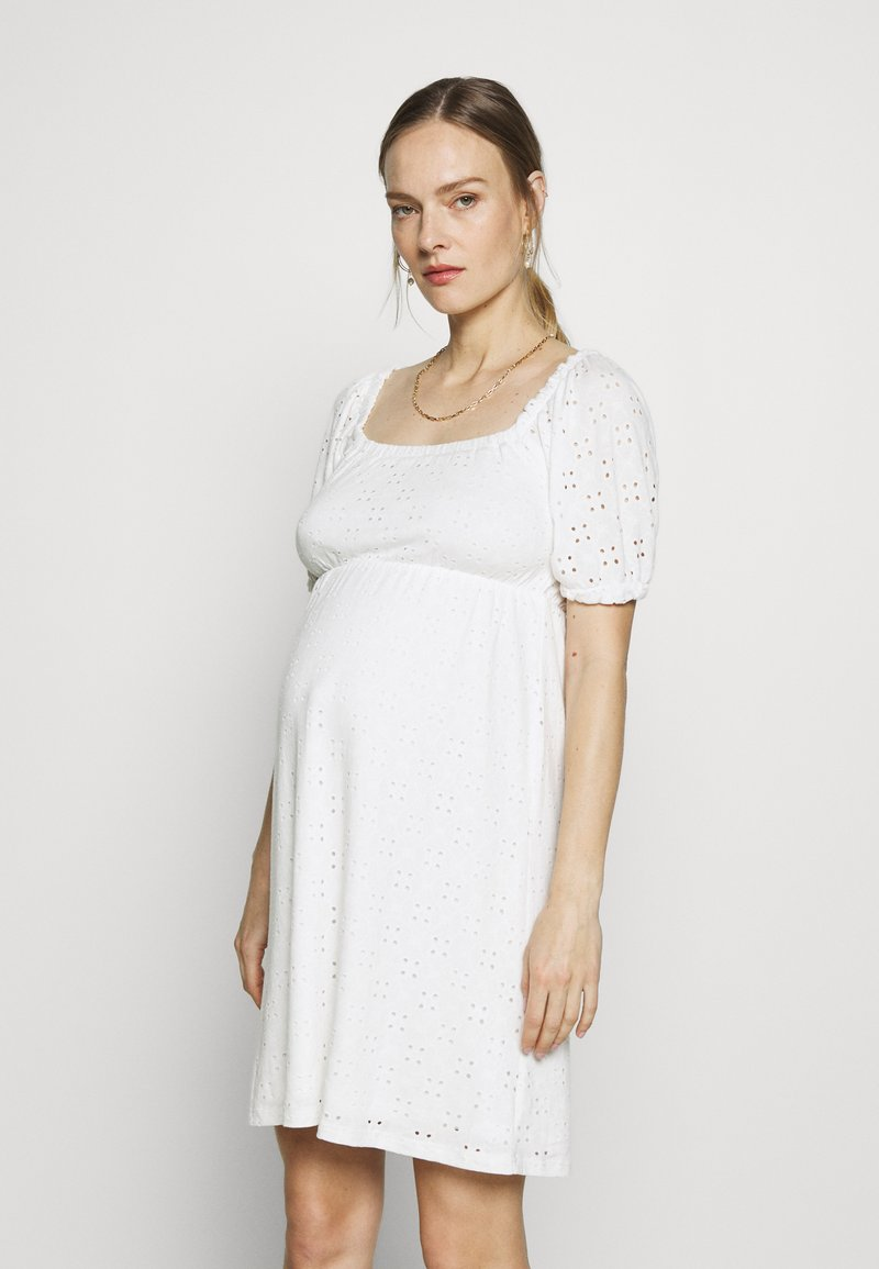 MAMALICIOUS - MLMOLLY SHORT DRESS - Sukienka z dżerseju - snow white