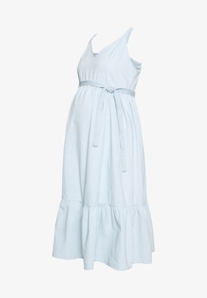 MLAMORY MIDI DRESS - Sukienka jeansowa - light blue denim