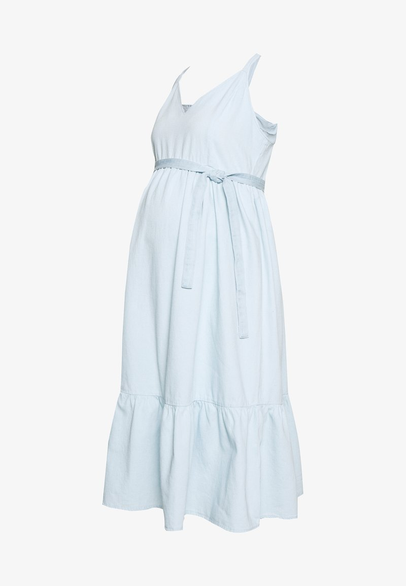 MAMALICIOUS - MLAMORY MIDI DRESS - Vestido vaquero - light blue denim