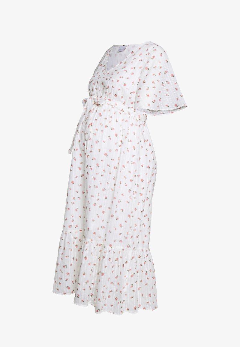 MAMALICIOUS - MLDITSY MIDI DRESS - Sukienka letnia - snow white