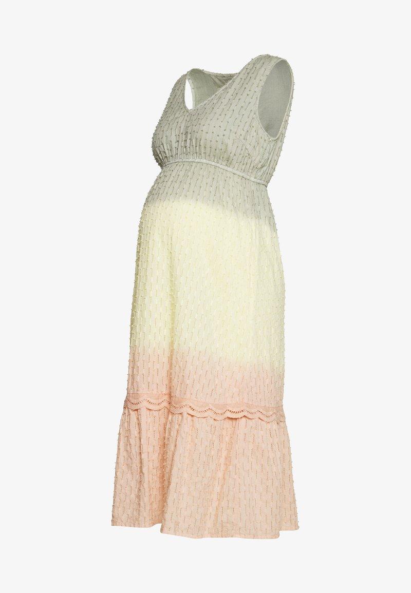 MAMALICIOUS - MLEMILIA MIDI DRESS - Vestido informal - green milieu/mellow yellow