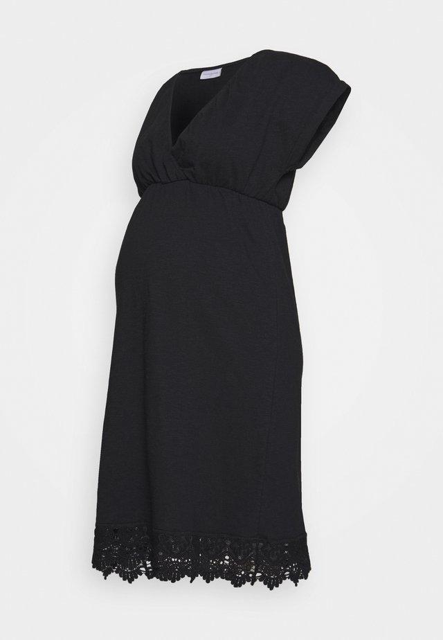MLALETTA TESS SHORT DRES - Žerzejové šaty - black