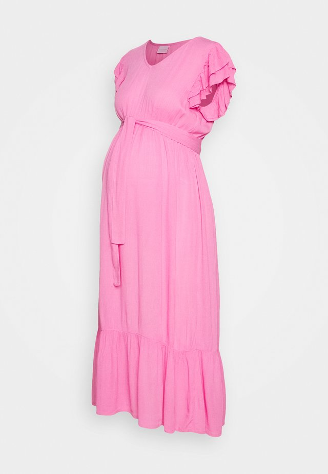 MLARISA CAP MIDI DRESS - Vapaa-ajan mekko - fuchsia pink