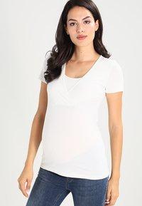 MAMALICIOUS - 2 PACK - T-shirt basic - black/white - 2