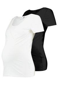 MAMALICIOUS - 2 PACK - T-shirt basic - black/white - 0