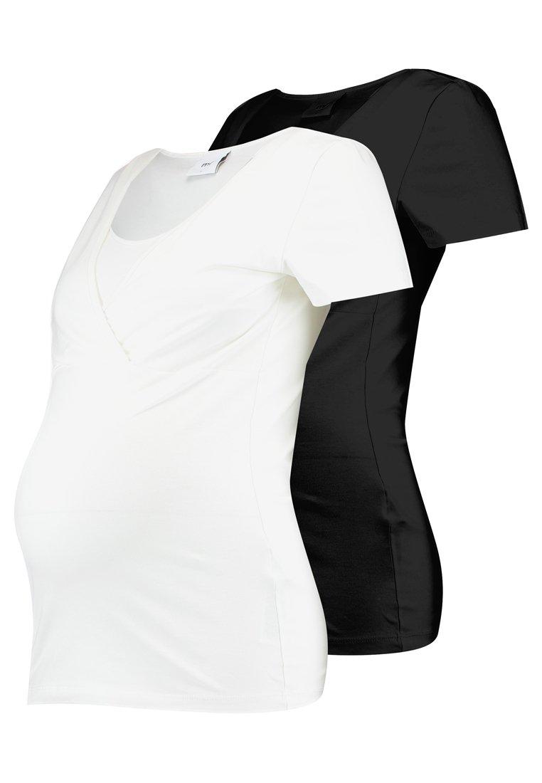 MAMALICIOUS - 2 PACK - T-shirt basic - black/white