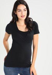 MAMALICIOUS - 2 PACK - T-shirt basic - black/white - 4
