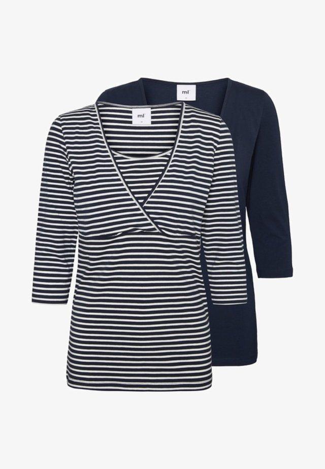 2 PACK - T-shirt à manches longues - dark blue