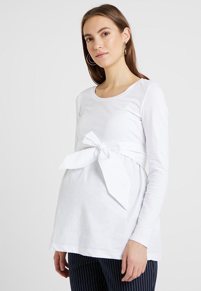 MAMALICIOUS - MLCAROLINA - Langærmede T-shirts - bright white